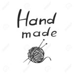 Vector hand drawn outline icon of handmade isolated on white background