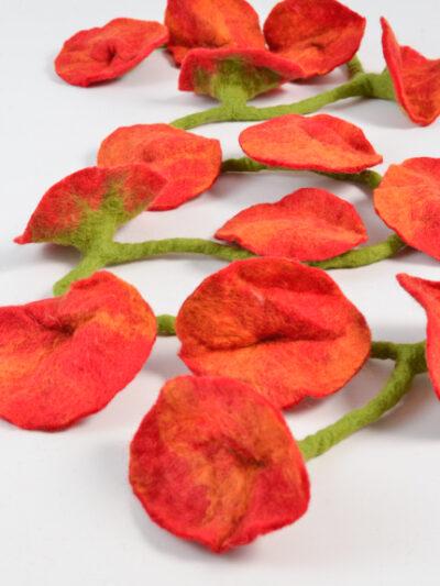 bloemen slinger rood