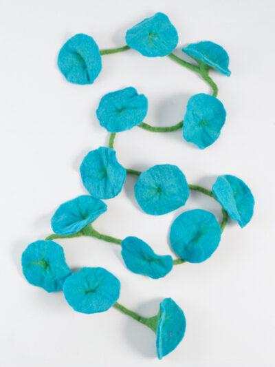 bloemen slinger turquoise