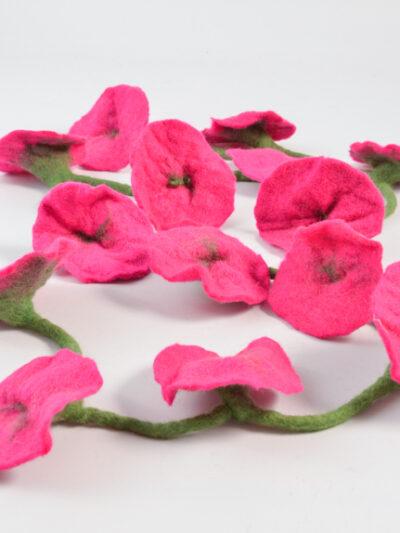 bloemen slinger roze