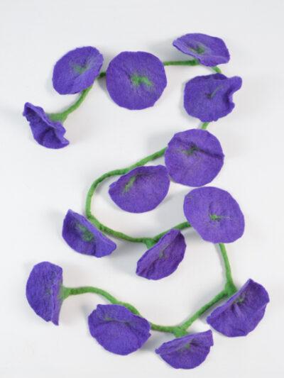 bloemen slinger paars
