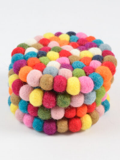 klein rond multicolor