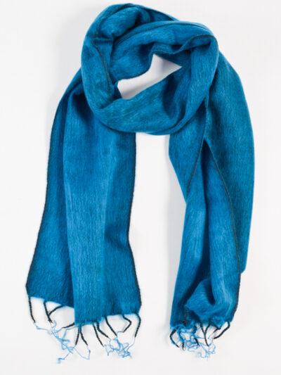kleine sjaal dark turquoise