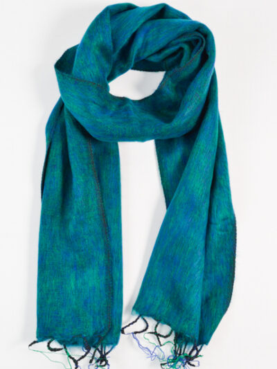 kleine sjaal green blue