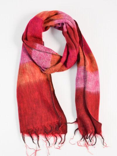 kleine sjaal fuchsia pink