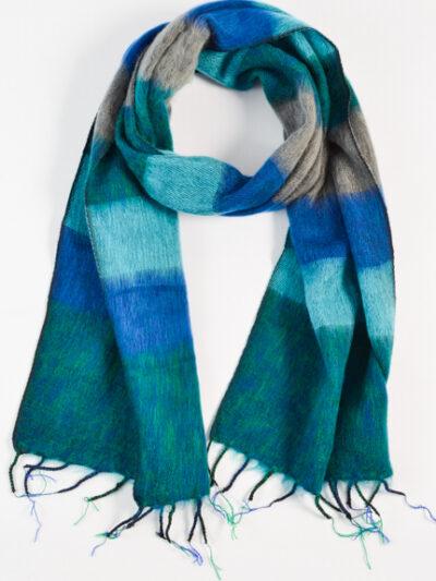 Kleine sjaal blue turquoise