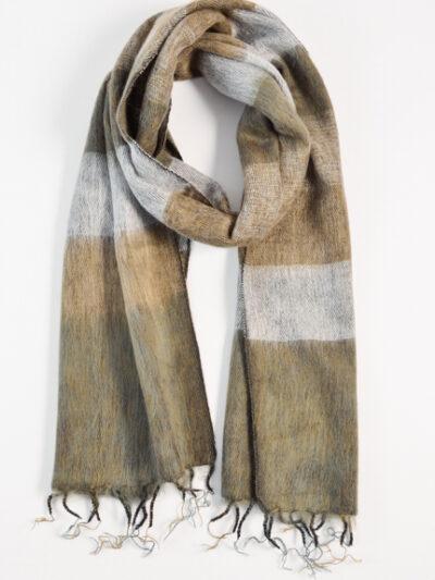 Kleine sjaal beige gray