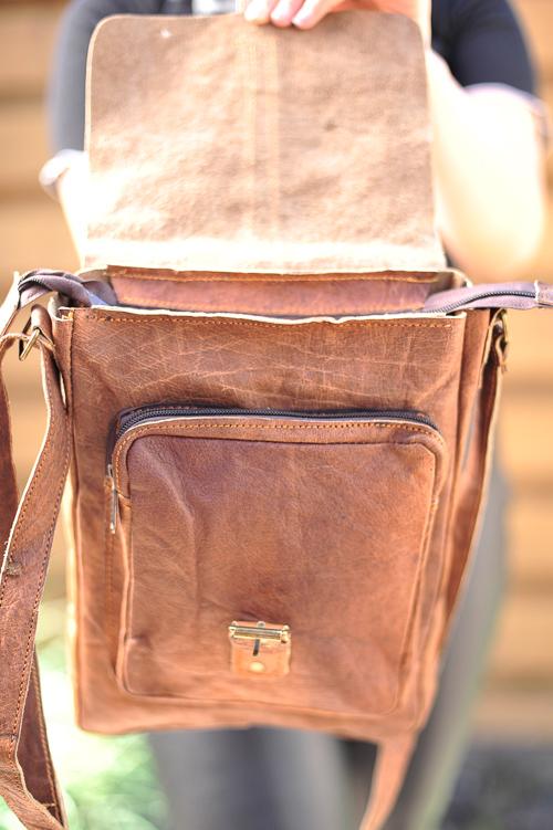schoudertas met voorvak