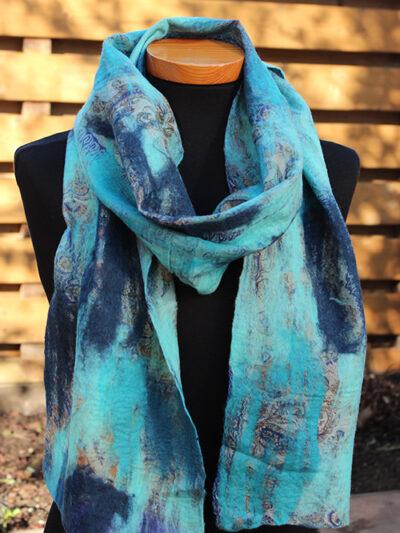 VS117 viltsjaal turquoise blauw