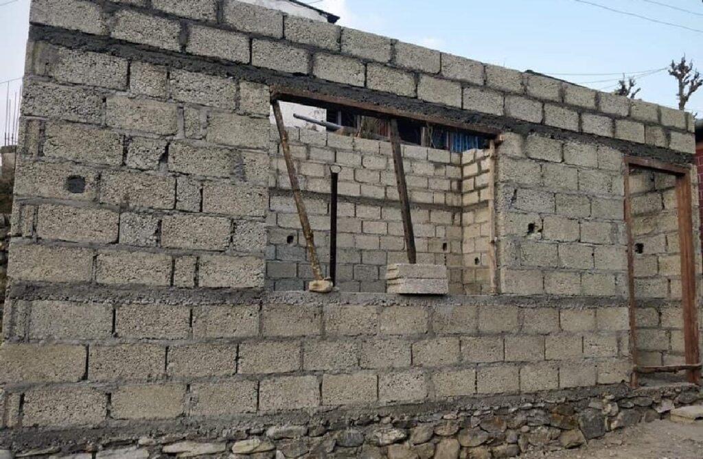 Kamer in aanbouw